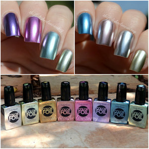 >>http://www.thepolishedmommy.com/2014/06/sally-hansen-color-foils.html