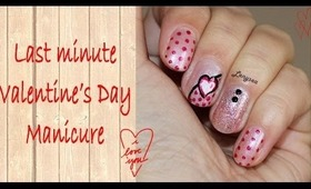 Last Minute Valentine's Day Manicure