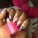 Hello Kitty Inspired nails