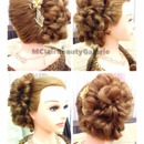 Bridal Messy Side Bun