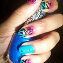 Crazy cheetah zebra design