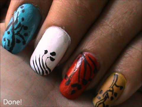 magic nails colorful nails  easy nail art for short
