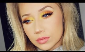 Bright Orange + Yellow Makeup Tutorial | TheBeautyVault