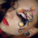 Podium inspired creative graphic swirls make-up tutorial