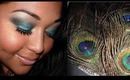 Peacock -  Teal with Glitter eyeshadow tutorial!!