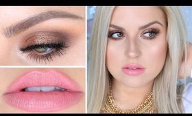 Bronze Smokey Eyes, Pin Straight Hair Tutorial ♡ Hair & Makeup!