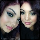 light green smokey eye