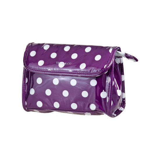Trina Polka Dot Cosmetic Bag Purple Clutch Beautylish