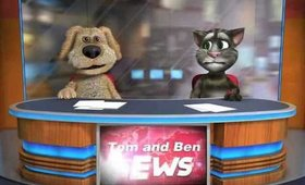 Talking Tom & Ben News eating cake lol