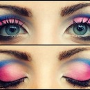 Pink/Blue Cut Crease