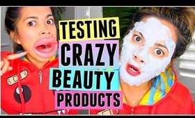 TESTING WEIRD & CRAZY BEAUTY PRODUCTS!