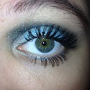 blue and black eyeshadow