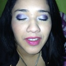 purple eyeshadow and fuchsia lips