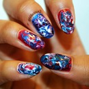 The nail art I wore for the 4th of July  2