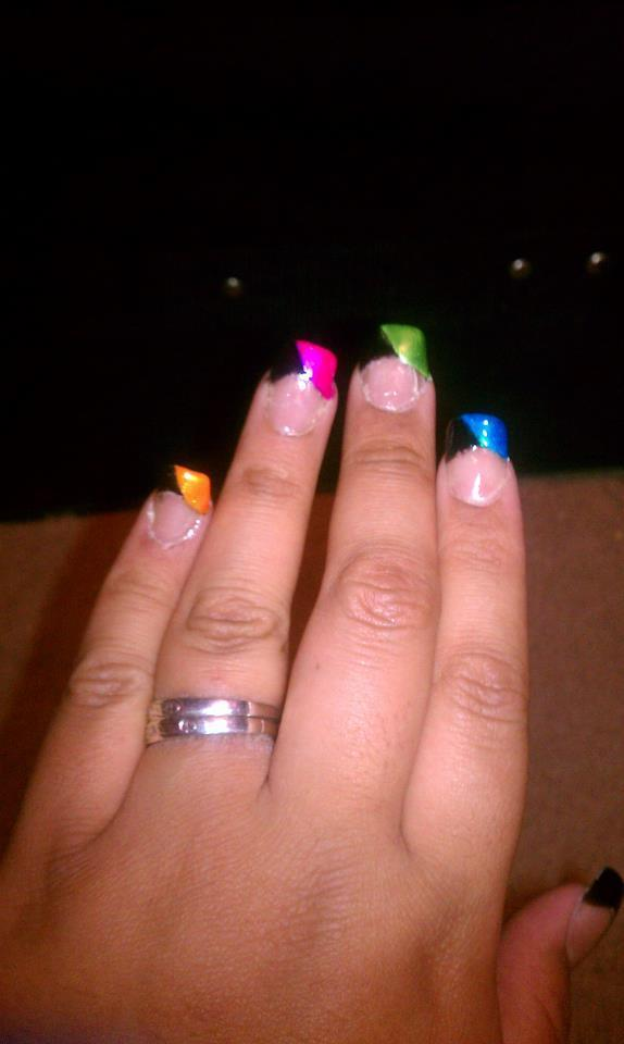 Acrylic Nails Rainbow French Tip Angelina M S Angelinastyles