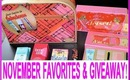 ♥ NOVEMBER FAVORITES & HUGE HOLIDAY GIVEAWAY!!! ♥  AprilAthena7
