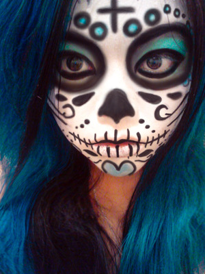 First Attempt at Sugar Skull makeup