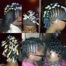 updo for kids with natural hair