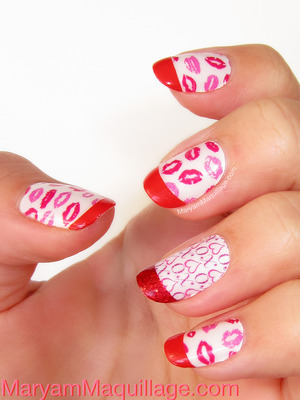 using the one and only Incoco real nail polish appliqués: http://www.maryammaquillage.com/2013/02/sealed-with-kiss.html