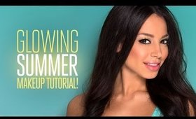 Glowing Summer Makeup Tutorial! (For a night out!)