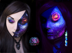 TUTORIAL: http://www.youtube.com/watch?v=bychaR6fSvA Be sure to check it out and see how I created it!   So. Space. I like space. I like it so much I decided to put it on my face. (That rhymed!)   I'm going to be entering into the NYX Face awards with this video! So wish me luck!   Thanks to everyone who sent me galaxy pictures for inspiration! It really helped!