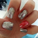 silver red glitter :)