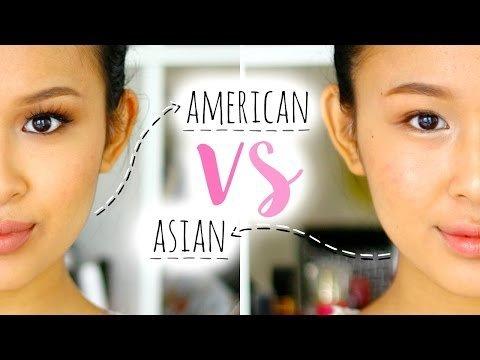 American Makeup vs Asian Makeup   Makeup Transformation. Like