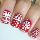 Holiday Sweater Nails