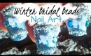 Winter Wedding Micro Beads Bridal Nail Art Design Tutorial