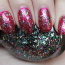 Nicole by OPI Confetti Fun (layered over Nicole by OPI Scarlett)