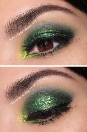 For St. Paddy's: http://www.maryammaquillage.com/2013/03/glitter-clovers-smokey-eyes.html
