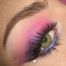 Dramatic Pink & Purple Summer make-up