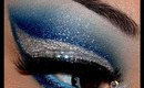 Super Glittery Blue and Silver Tutorial!!!!!!
