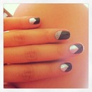 Caviar silver and black nails