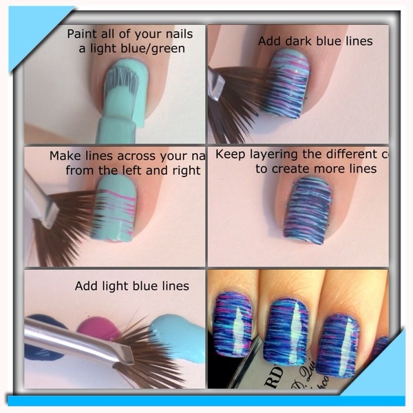 Nail Art Designs With Fan Brush To Bend Light