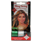Bling String 500' Hair Tinsel with Clips - Silver/Green
