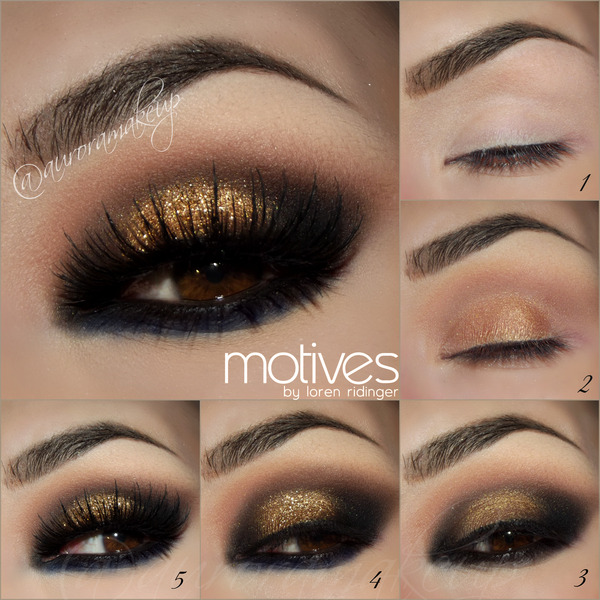 Smokey Eye In Bronze Tones Auroramakeup A S
