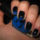 Black - Blue gradient nails