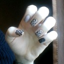 Cheetah Print Nail Art.