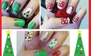 Three Cute & Easy Christmas Tree Nail Tutorials