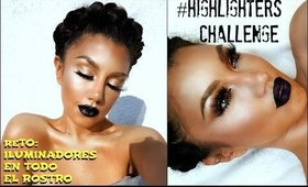 RETO: Maquillaje con ILUMINADORES / FULL FACE USING ONLY HIGHLIGHTERS CHALLENGE | auroramakeup