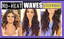 NO-HEAT SELENA GOMEZ CURLS OVERNIGHT TUTORIAL | HEATLESS WAVES HAIRSTYLES FOR MEDIUM LONG HAIR