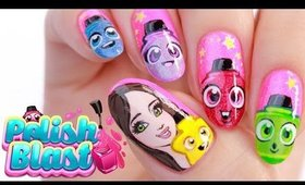 Polish Blast Game Nail Art | FREEHAND!