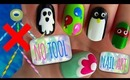 No Tools Nail Tutorial! 5 Nail Art Ideas :)