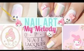 Sanrio ❤ My Melody Nail Art Design Tutorial