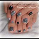Easy Toenail Art Design | Grey Fishnet Pedicure