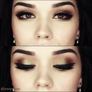 Wearable Green Smokey eyes