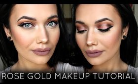 Glowing Rose Gold Makeup Tutorial | Colourpop + Anastasia Beverly Hills
