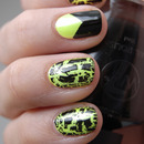 Neon with black shatter