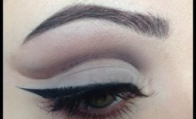 DEEP PURPLE AND BROWN CUT CREASE
